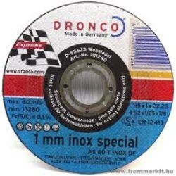 Dronco vágókorong 115*2,5*22, inox special