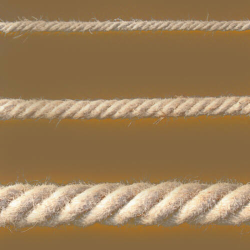 Juta kötél sodrott  65mm